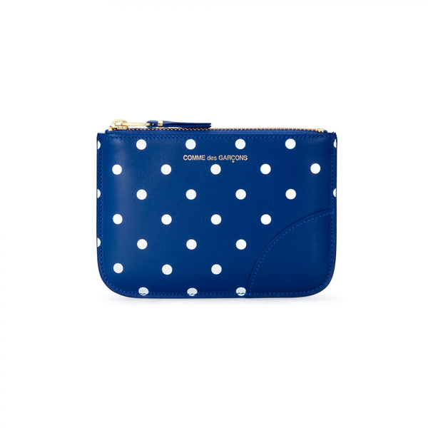 CDG Polka Dot Wallet - Blue / SA8100PD