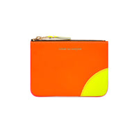 CDG Super Fluo Wallet - Light Orange/Pink / SA8100SF