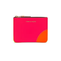 CDG Super Fluo Wallet - Pink/Yellow / SA8100SF