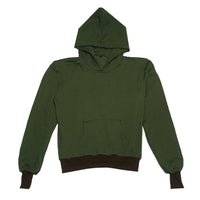 YOUTHS IN BALACLAVA Y Shape Yoke Hoodie - Dark Green