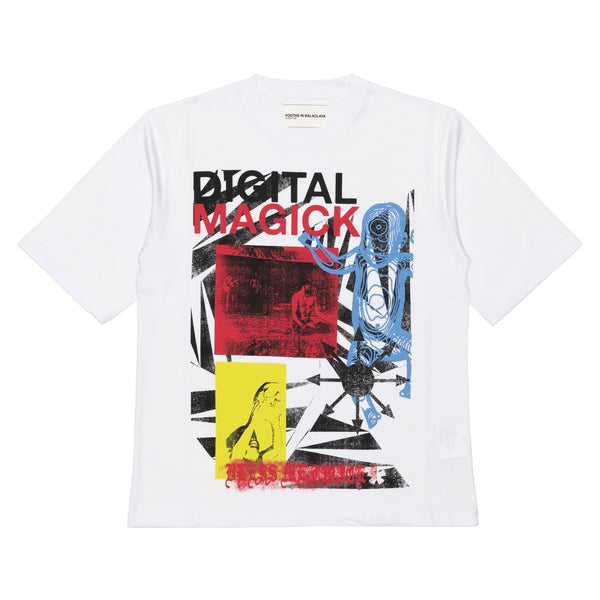 YOUTHS IN BALACLAVA / YOU03T002-2 / MEN'S PRINTED T-SHIRT- WHITE