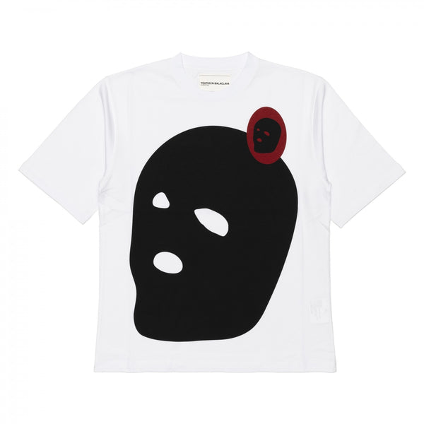 YOUTHS IN BALACLAVA / YOU03T007-3 / MEN'S PRINTED T-SHIRT -WHITE