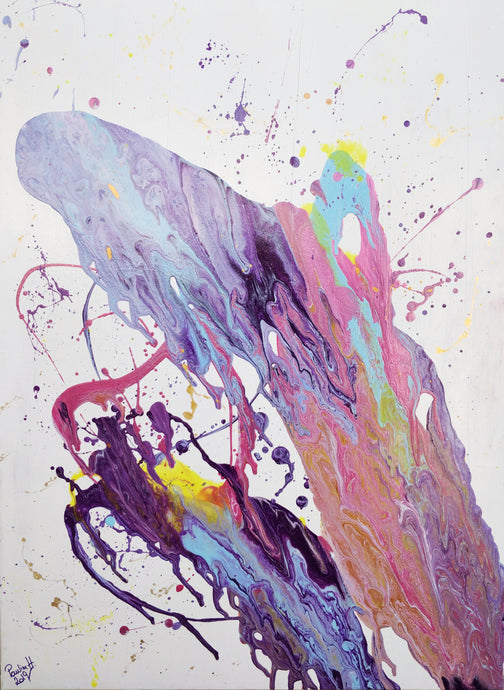 Pauline H Art Crazy Jellyfish Abstract Artwork