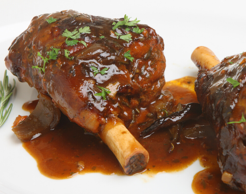 SLOW COOKED SPICY LAMB SHANK