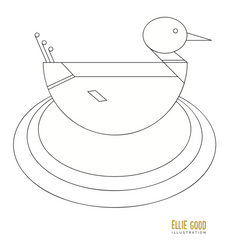 Ellie Good Illustration duck colouring in download