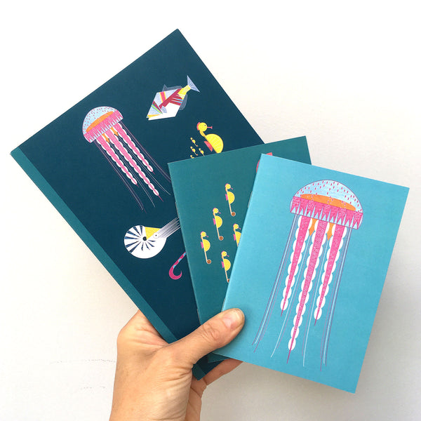 Sea Creatures set of 3 Notebooks
