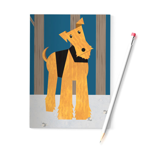 Welsh Terrier / Airedale A6 notebook printed on recycled paper