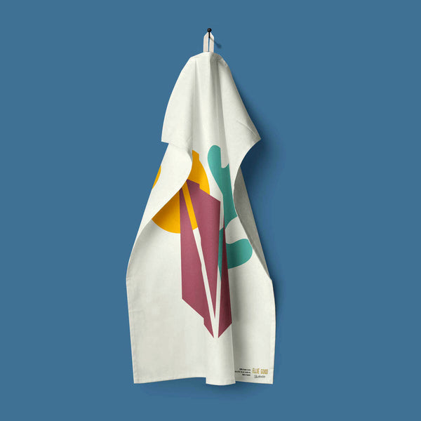 Aland Abstract Organic Cotton Tea Towel - Slight Seconds