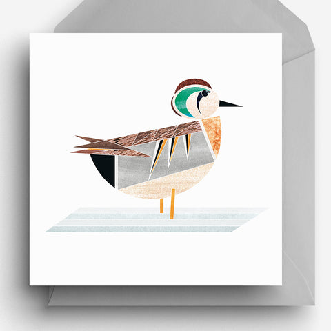 Baikal Teal Greetings Card