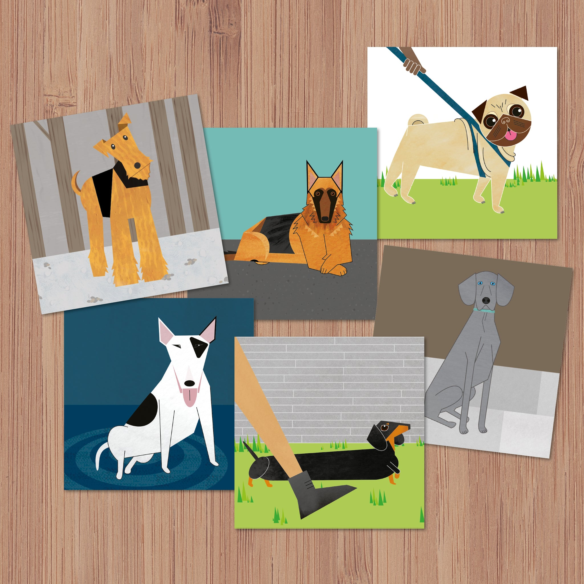Pack of 6 Doggy Friends Greetings Cards