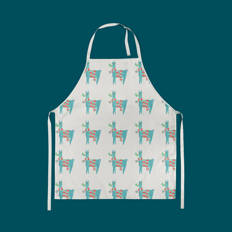 PRE-ORDER: Llama Print Apron made from Organic Cotton
