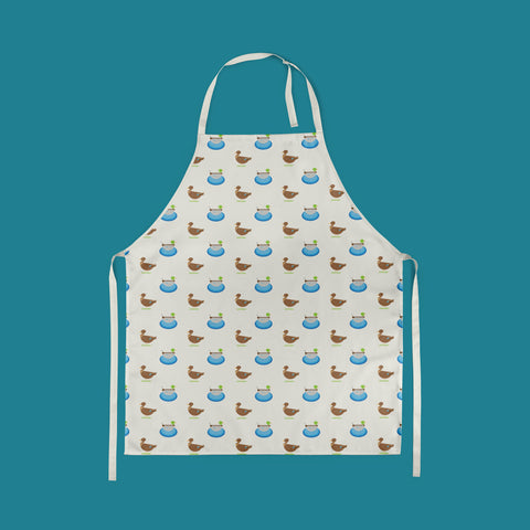 PRE-ORDER: Duck Print Apron made from Organic Cotton