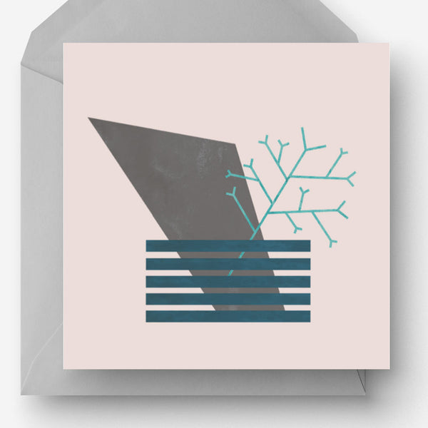 Pack of 5 Abstract Nature Greetings Cards