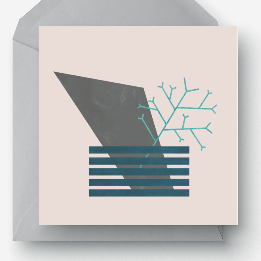 Scandinavia Abstract Greetings Card