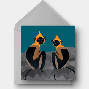 Cat Ba Langur Greetings Card