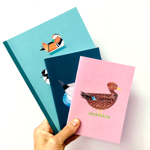 Dabbling Ducks set of 3 Notebooks