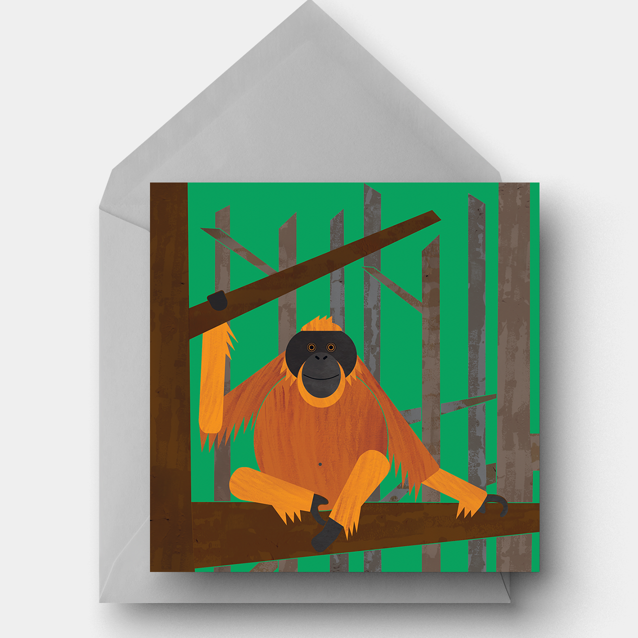 Orangutan Greetings Card