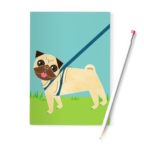 Pug Dog A6 Notebook