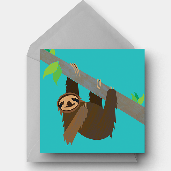 Pygmy Sloth charity card