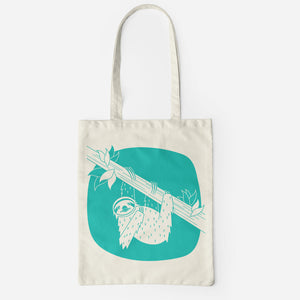 Sloth Salvaged Fibre Tote (Aqua)