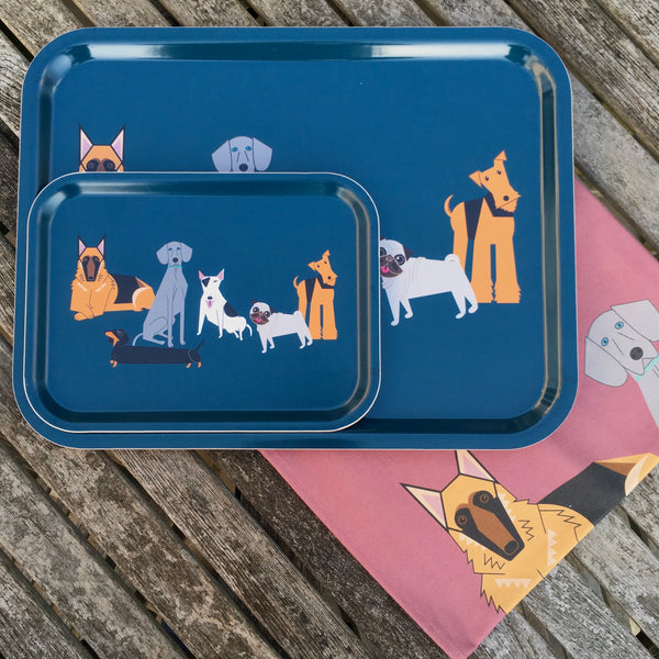 Large Doggy Friends wooden tray