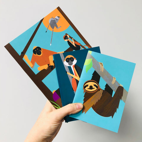 Monkeys set of 3 Notebooks