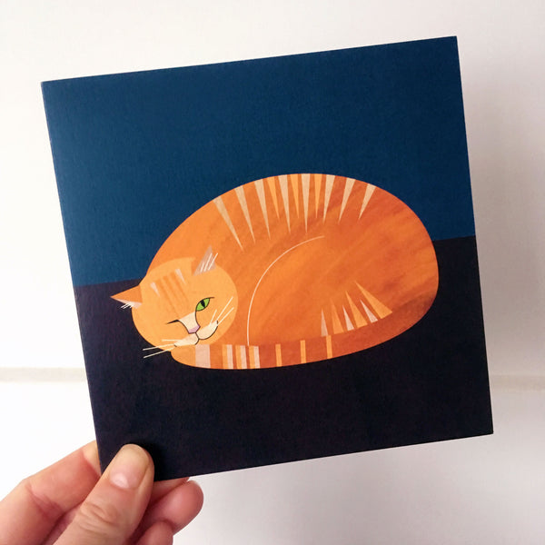 Ginger Moggy Greetings Card
