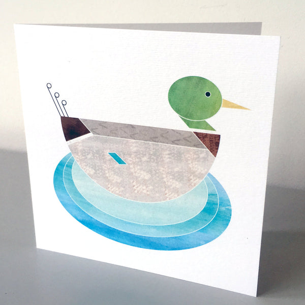 Mr Mallard duck charity card