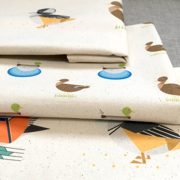 Dabbling Ducks set of 3 tea towels