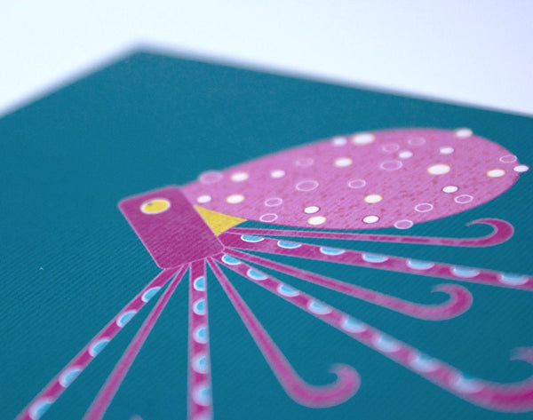 Geometric Octopus charity card