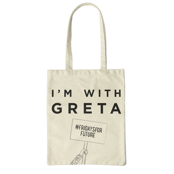 I'm with Greta tote made from recycled fabric