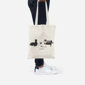 Purrr... #ILOVECATS tote bag made from recycled fabric