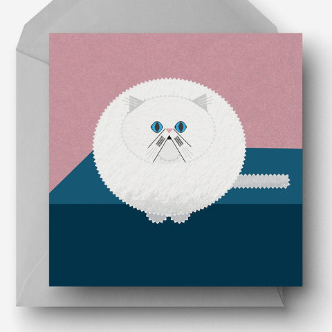 Persian Cat Greetings Card