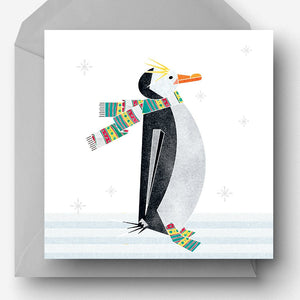 Winter Penguin Christmas Charity Card