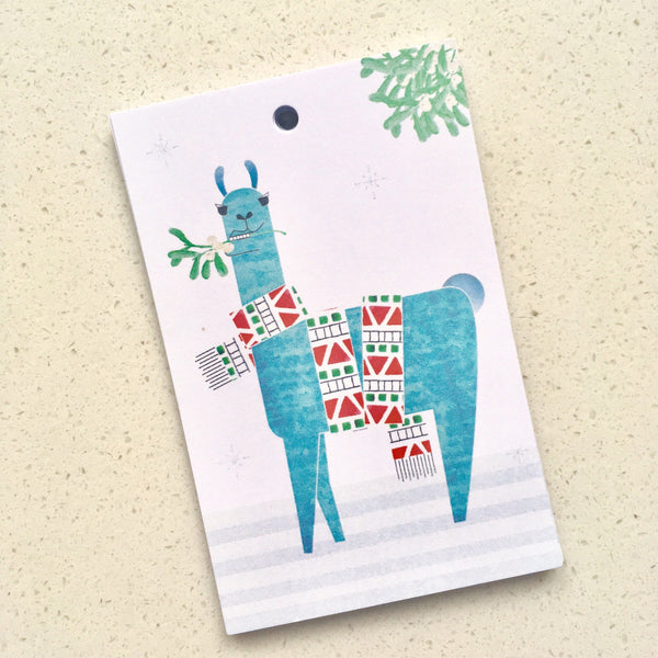 Mixed pack of 12 Christmas gift tags: Penguin, Llama and Polar Bear