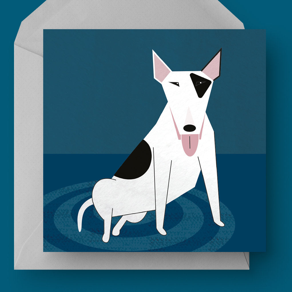 English Bull Terrier dog charity card