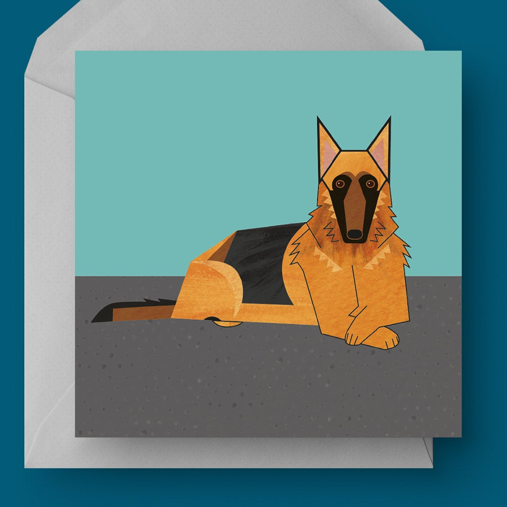 German Shepherd dog charity card