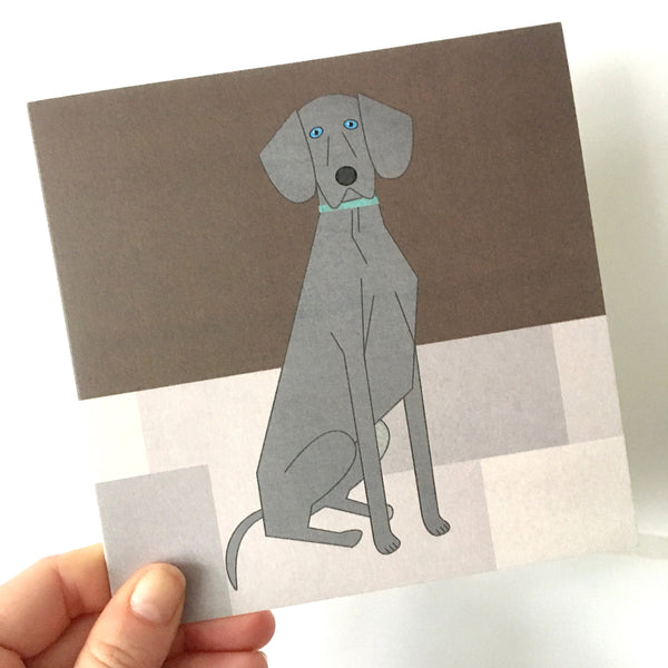 Weimaraner Greetings Card