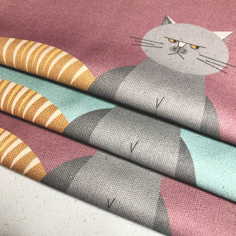 Cat Characters set of 3 Organic Cotton Tea Towels