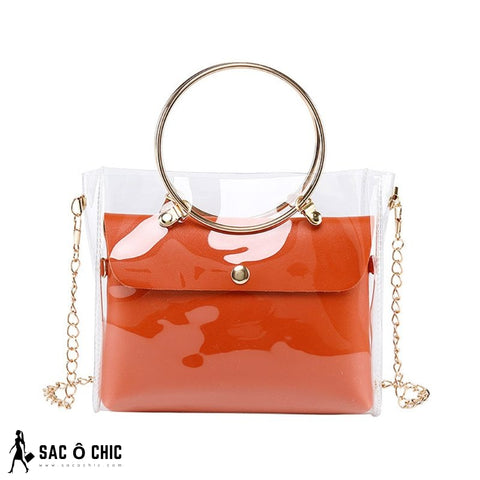 Sac à Main Transparent Orange