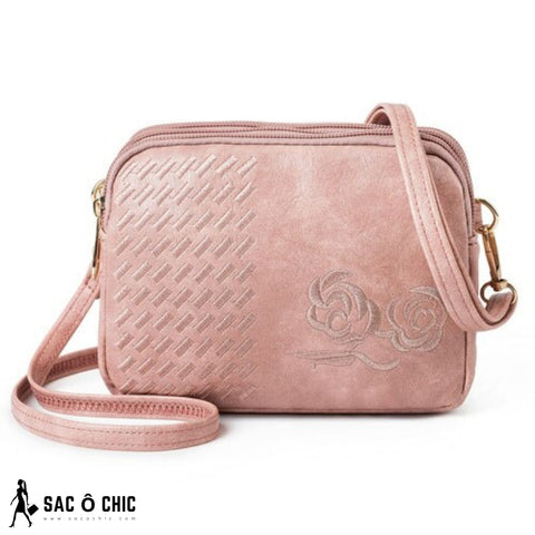 Sac à Main Cuir Rose