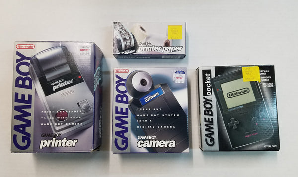 Black Game Boy Pocket Bundle (w/Printer,Camera,Paper)