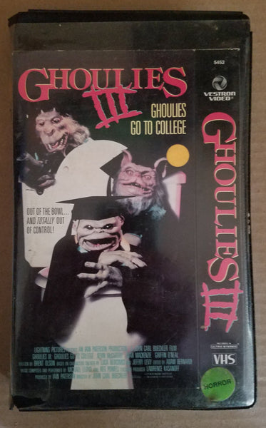 Ghoulies III VHS CUT CASE