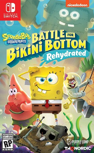 Spongebob Squarepants: Battle Bikini Bottom Rehydrated Nintendo Switch NEW