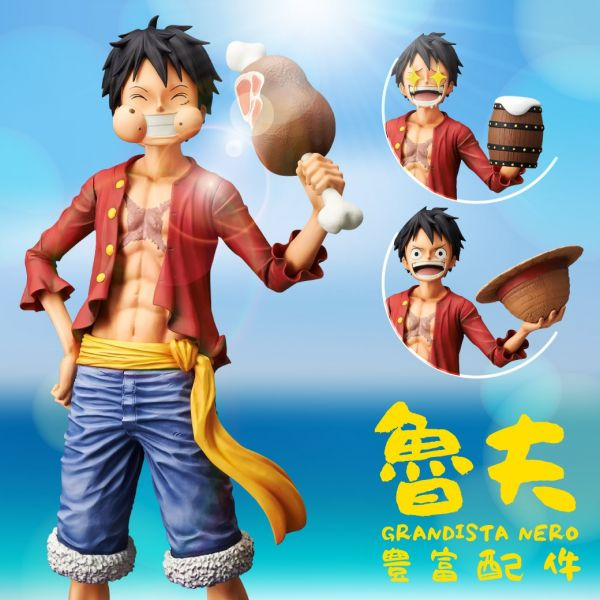 One Piece Monkey D. Luffy Grandista Nero Figure