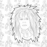 David Bowie Retrospective and Coloring Book