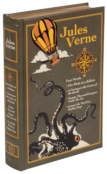 4 Novels by Jules Verne (Leather-bound Classics)