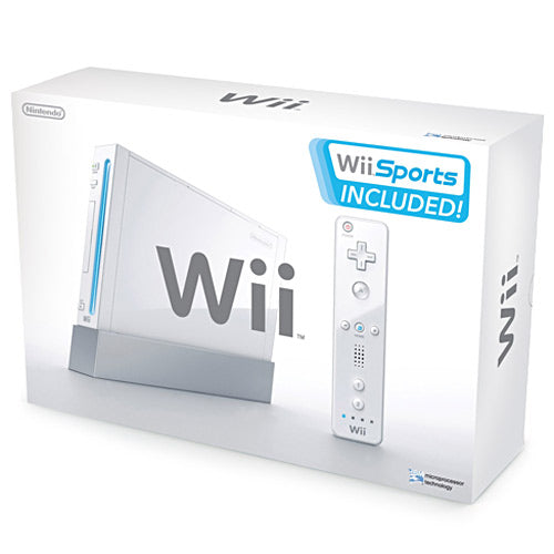 Nintendo Wii White (in box) GAMECUBE COMPATIBLE