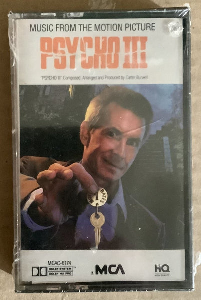 Psycho III Cassette Soundtrack SEALED