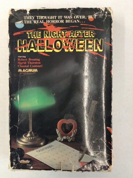 The Night After Halloween AKA One More Minute VHS Big Box Horror